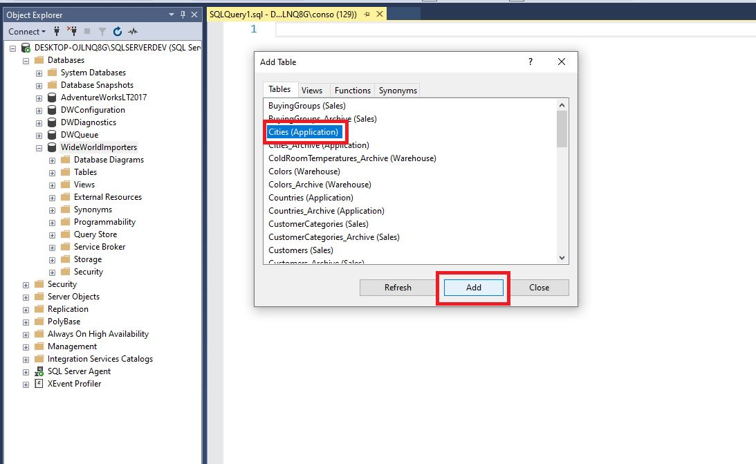 Query design in ssms Step 4